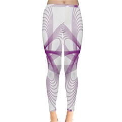 Spirograph Purple Circle Geometric Inside Out Leggings