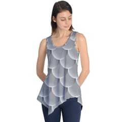 Scallop Fish Scales Scalloped Sleeveless Tunic