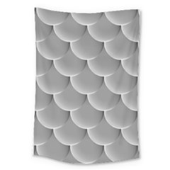 Scallop Fish Scales Scalloped Large Tapestry by Jojostore