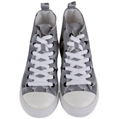 Scallop Fish Scales Scalloped Women s Mid Top Canvas Sneakers