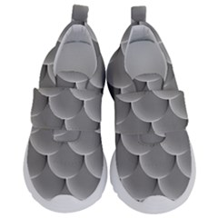 Scallop Fish Scales Scalloped Kids  Velcro No Lace Shoes