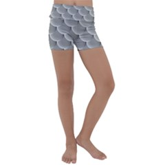 Scallop Fish Scales Scalloped Kids  Lightweight Velour Yoga Shorts by Jojostore