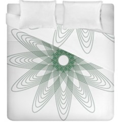 Spirograph Green Circle Geometric Duvet Cover Double Side (king Size)