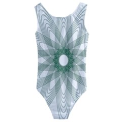 Spirograph Green Circle Geometric Kids  Cut Out Back One Piece Swimsuit