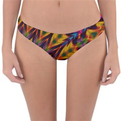 Background Abstract Texture Chevron Reversible Hipster Bikini Bottoms