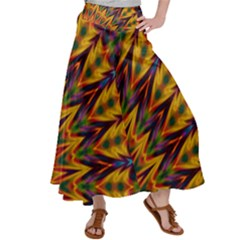 Background Abstract Texture Chevron Satin Palazzo Pants