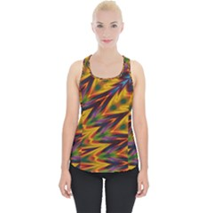 Background Abstract Texture Chevron Piece Up Tank Top