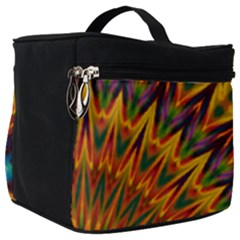 Background Abstract Texture Chevron Make Up Travel Bag (big)