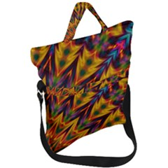 Background Abstract Texture Chevron Fold Over Handle Tote Bag