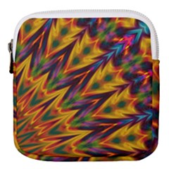 Background Abstract Texture Chevron Mini Square Pouch by Mariart