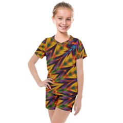 Background Abstract Texture Chevron Kids  Mesh Tee And Shorts Set by Mariart