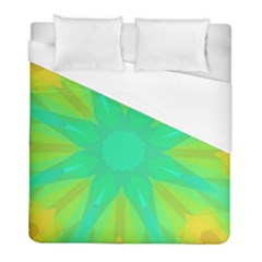 Kaleidoscope Background Green Duvet Cover (full/ Double Size) by Mariart