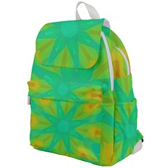 Kaleidoscope Background Green Top Flap Backpack
