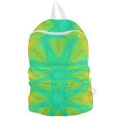 Kaleidoscope Background Green Foldable Lightweight Backpack by Mariart