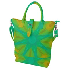 Kaleidoscope Background Green Buckle Top Tote Bag by Mariart