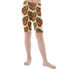 Butterflies Insects Kids  Mid Length Swim Shorts by Mariart
