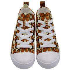 Butterflies Insects Kids  Mid Top Canvas Sneakers