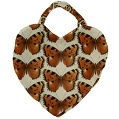 Butterflies Insects Giant Heart Shaped Tote by Mariart