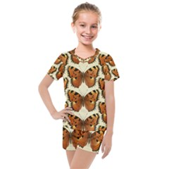 Butterflies Insects Kids  Mesh Tee And Shorts Set by Mariart