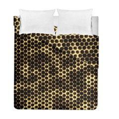 Honeycomb Beehive Nature Duvet Cover Double Side (full/ Double Size) by Mariart