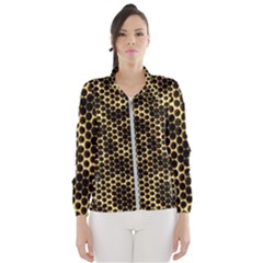 Honeycomb Beehive Nature Windbreaker (women) by Mariart