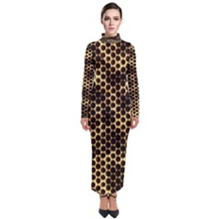 Honeycomb Beehive Nature Turtleneck Maxi Dress by Mariart