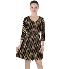 Honeycomb Beehive Nature Ruffle Dress