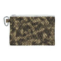 Honeycomb Beehive Nature Canvas Cosmetic Bag (large)