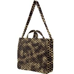 Honeycomb Beehive Nature Square Shoulder Tote Bag by Mariart