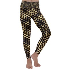 Honeycomb Beehive Nature Kids  Lightweight Velour Classic Yoga Leggings by Mariart