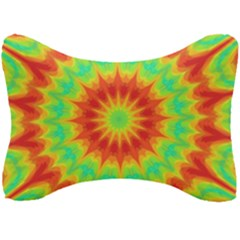 Kaleidoscope Background Mandala Red Green Seat Head Rest Cushion by Mariart