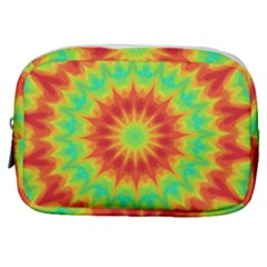 Kaleidoscope Background Mandala Red Green Make Up Pouch (small) by Mariart