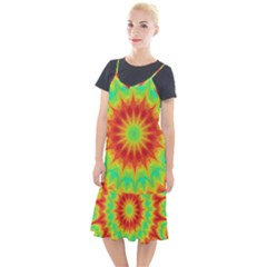 Kaleidoscope Background Mandala Red Green Camis Fishtail Dress by Mariart
