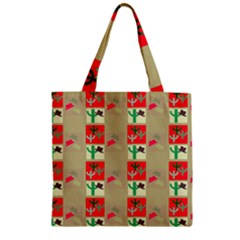 Background Western Cowboy Zipper Grocery Tote Bag
