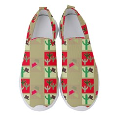 Background Western Cowboy Women s Slip On Sneakers by Mariart