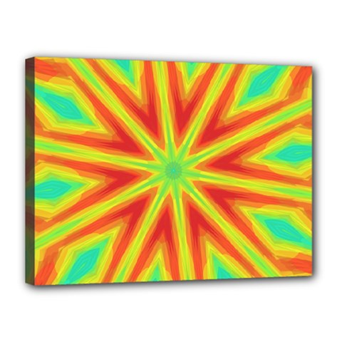 Kaleidoscope Background Star Canvas 16  X 12  (stretched)