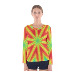 Kaleidoscope Background Star Women s Long Sleeve Tee by Mariart
