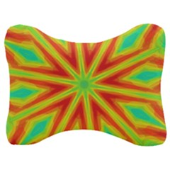 Kaleidoscope Background Star Velour Seat Head Rest Cushion by Mariart