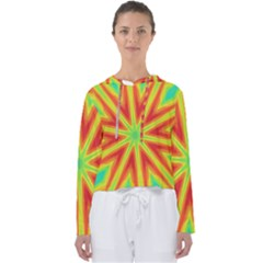 Kaleidoscope Background Star Women s Slouchy Sweat by Mariart