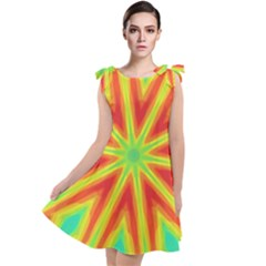 Kaleidoscope Background Star Tie Up Tunic Dress