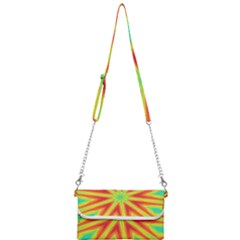 Kaleidoscope Background Star Mini Crossbody Handbag by Mariart