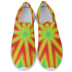 Kaleidoscope Background Star Men s Slip On Sneakers by Mariart