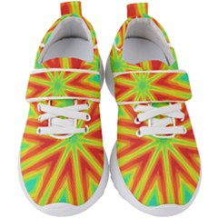 Kaleidoscope Background Star Kids  Velcro Strap Shoes