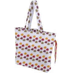 Autumn Leaves Drawstring Tote Bag by Mariart