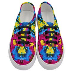 Flowers Kaleidoscope Mandala Women s Classic Low Top Sneakers