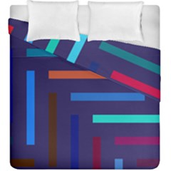 Line Background Abstract Duvet Cover Double Side (king Size) by Mariart