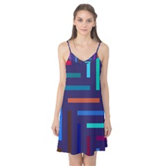 Line Background Abstract Camis Nightgown