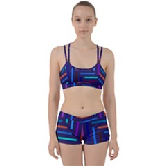 Line Background Abstract Perfect Fit Gym Set by Mariart