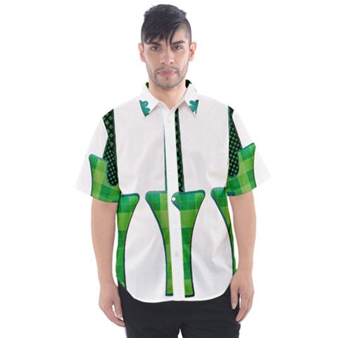 Saint Patrick S Day March Men s Short Sleeve Shirt by Mariart