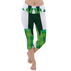 Saint Patrick S Day March Lightweight Velour Capri Yoga Leggings